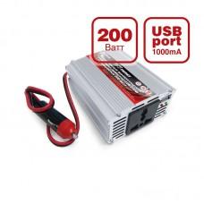 Автомобильный инвертор AVS Energy 12/220V IN-200W