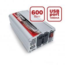 Автомобильный инвертор AVS Energy 12/220V IN-600W