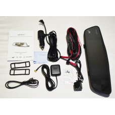 Видеорегистратор-зеркало Eplutus D30 (2 камеры + GPS-навигатор)