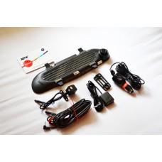 Видеорегистратор-зеркало XPX 837 (2 камеры + GPS-навигатор)